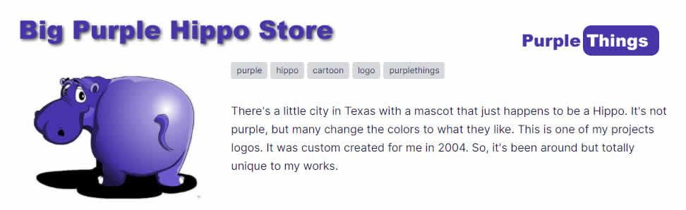 Big Purple Hippo